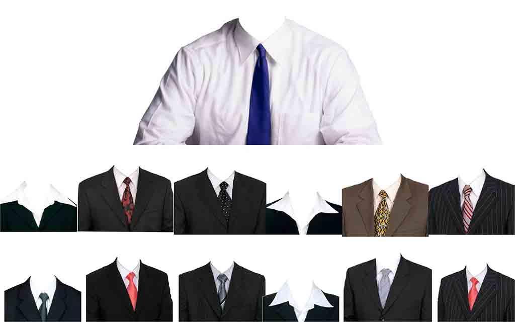 Trajes y ternos en psd para Mujeres y Hombres Photoshop