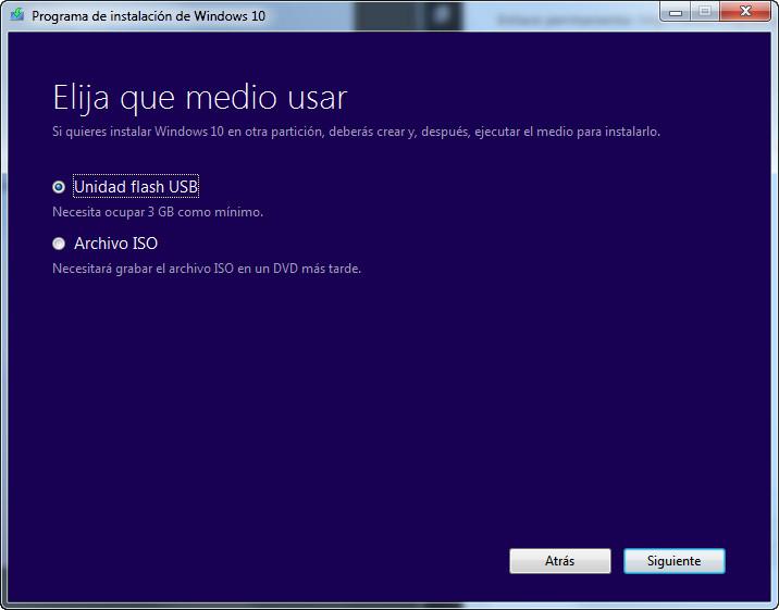 Descarga e instala windows 10
