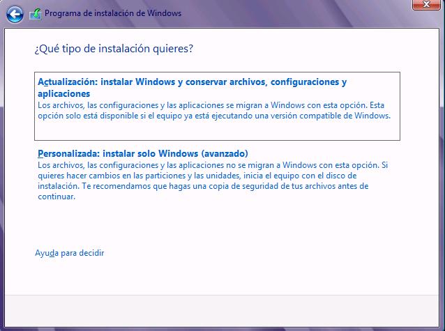 Instalación Personalizada de Windows 10