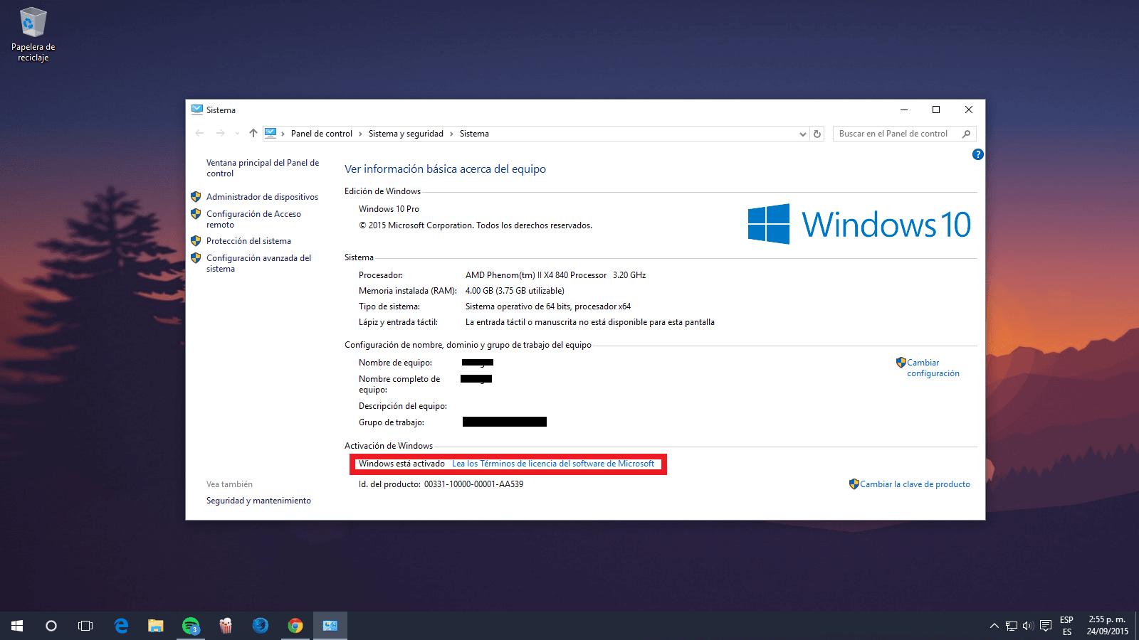 clave para windows 10