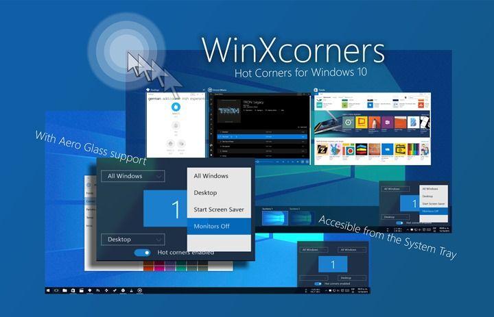 WinXCorners de macOS para Windows funcionalidad de las esquinas