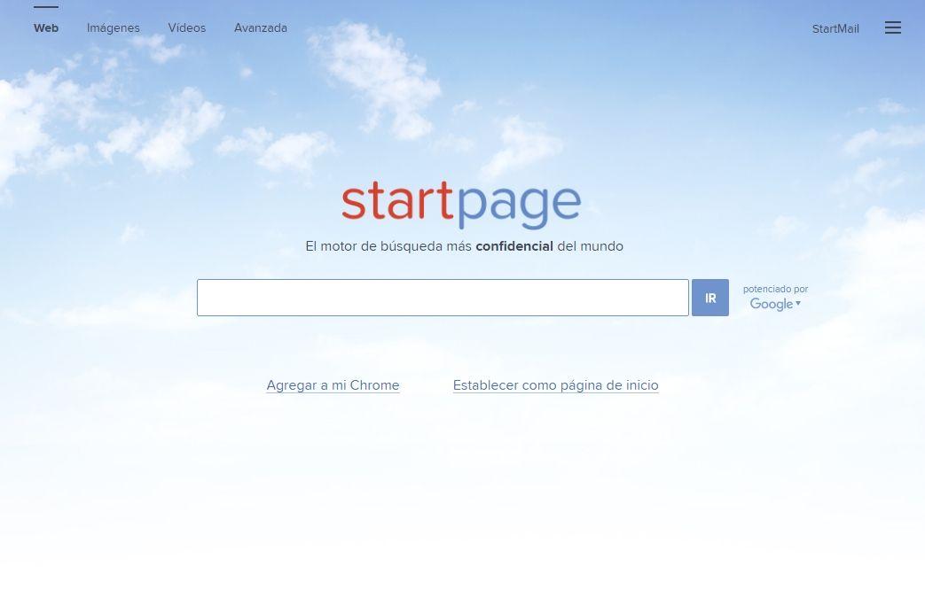 StartPage es un buscador que protege tu privacidad