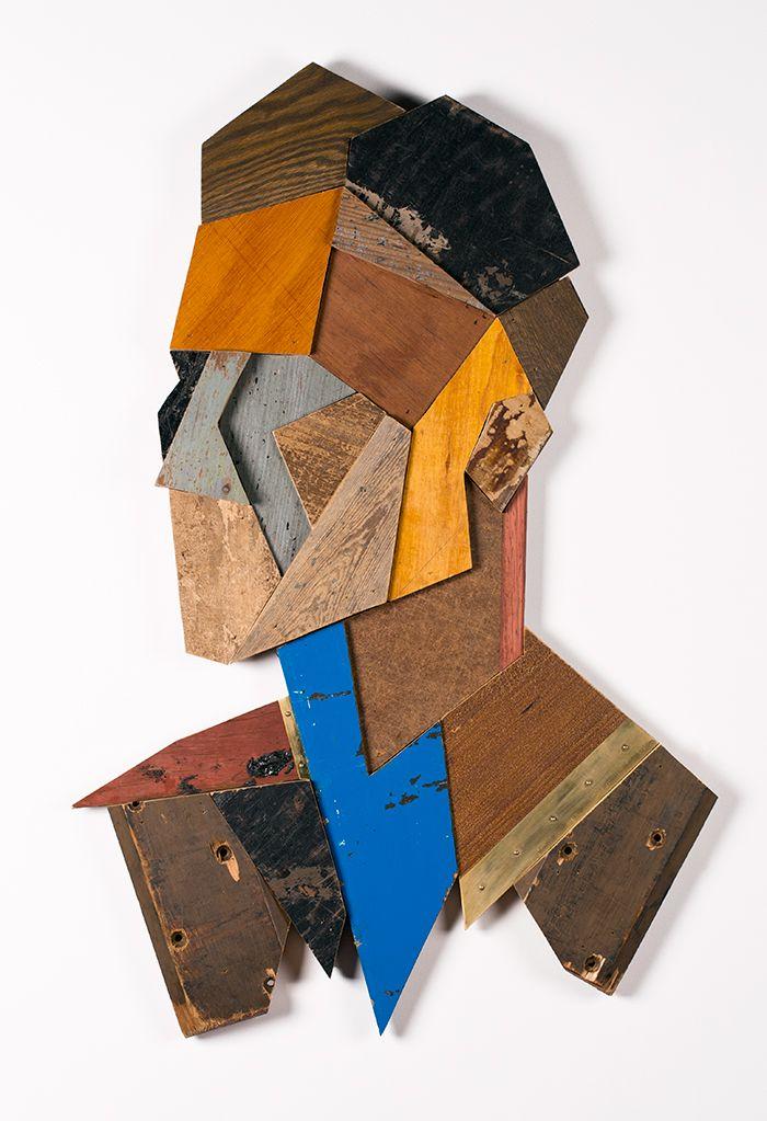 Retratos Geometricos en madera