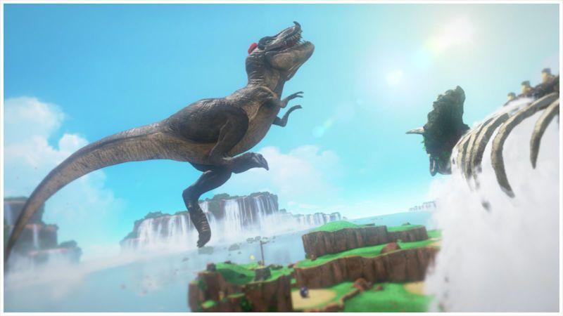 Super Mario Odyssey y su dinosaurio