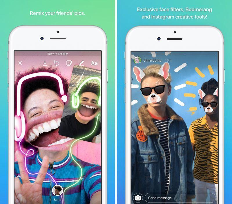Instagram Direct aplicación de mensajería