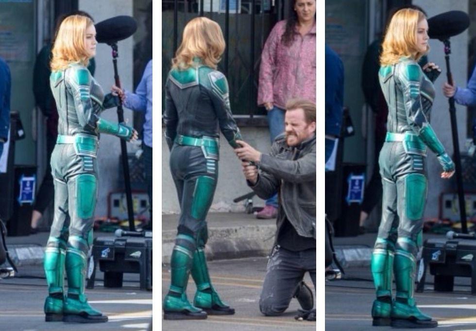 Traje de la Superheroína de Captain Marvel