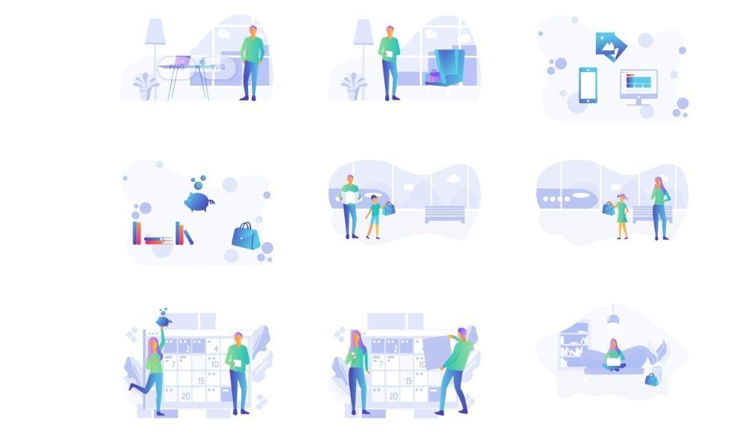 Kit de ilustraciones