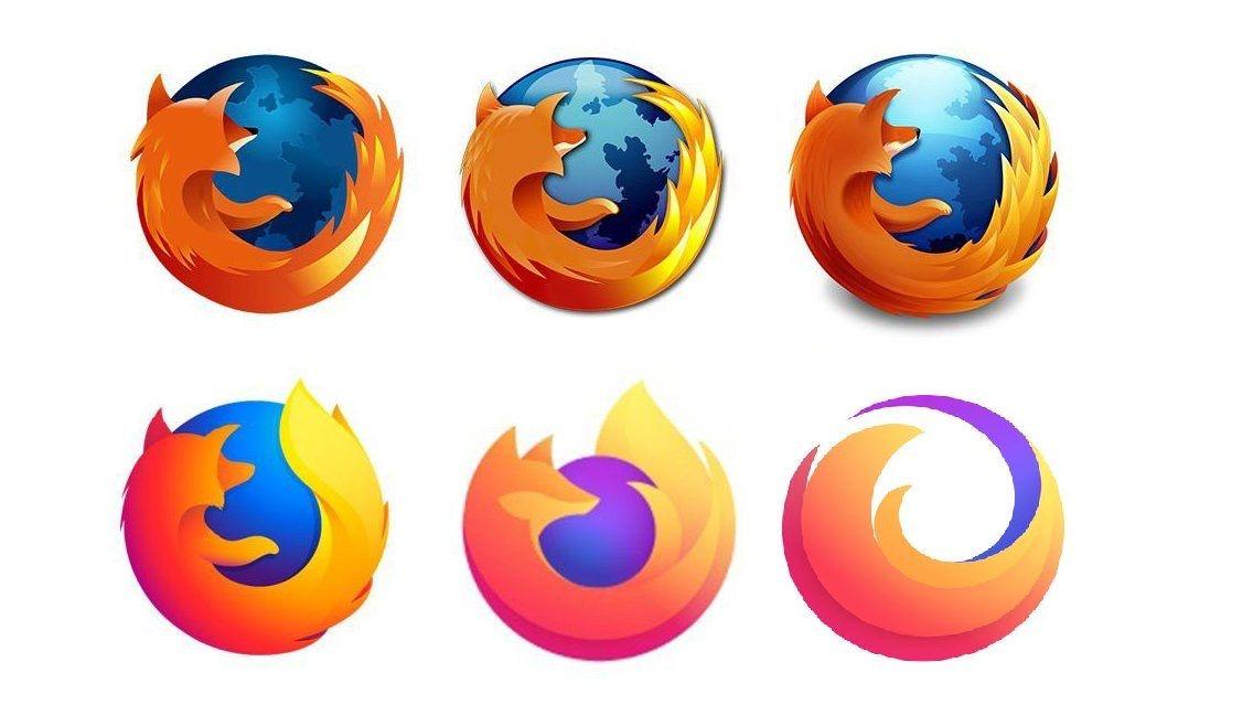 Logos del navegador de Firefox
