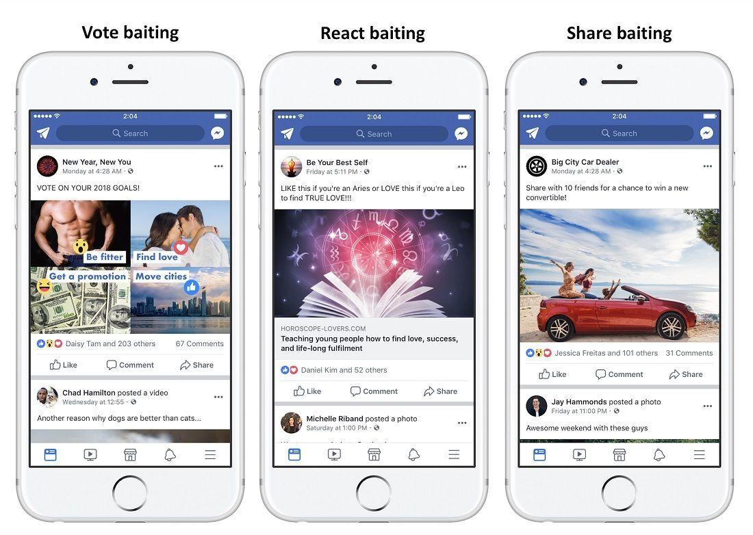 Facebook penalizara publicaciones que pidan dar like, compartir o etiquetar