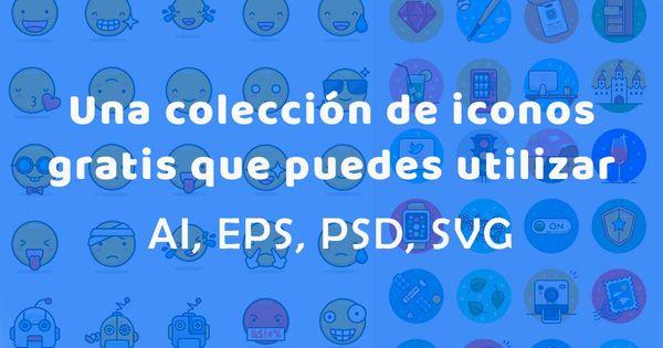 Una colección de iconos vectoriales de forma gratuita para tus proyectos