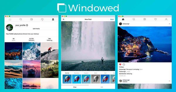 Esta aplicación te permite publicar en Instagram desde el escritorio de tu PC