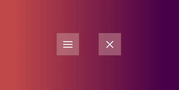 Crear el icono hamburguesa para el menú responsive con animaciones CSS